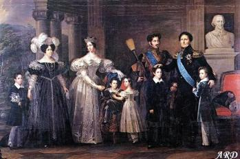 The Swedish Royal Family in 1830s