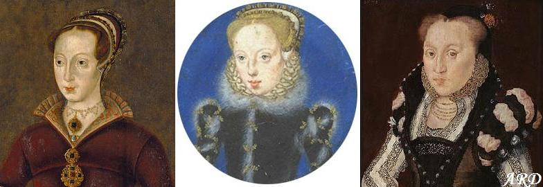 The Grey sisters: Lady Jane, Lady Catherine and Lady Mary